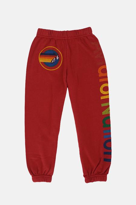 Kids Aviator Nation Sweatpant - Red