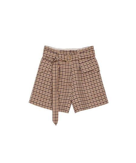 Nanushka Lucas Belted Shorts With Western Pocket