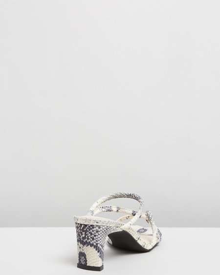 """INTENTIONALLY __________."" Willow Sandal - Grey Python"