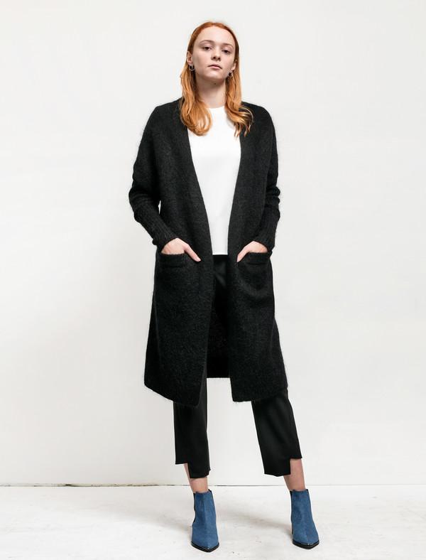 Acne Studios Womens Raya Mohair Cardigan Black