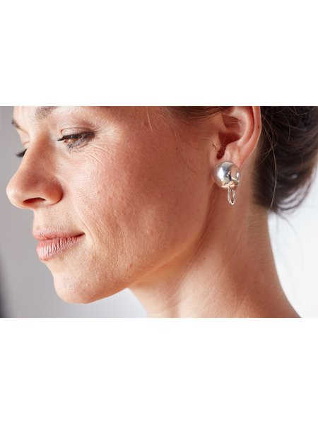 Lila Rice Maris Studs  - Silver