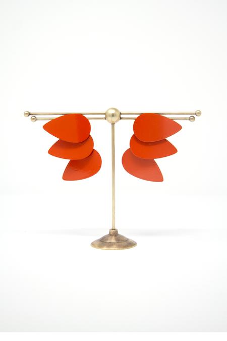 Sibilia Large Three Drops Earring - Papaya Orange
