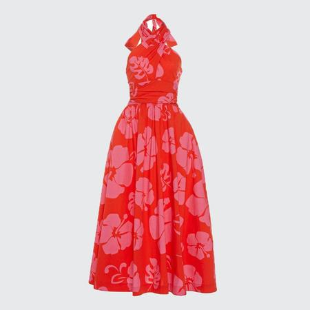 Staud Moana Dress - Hibiscus