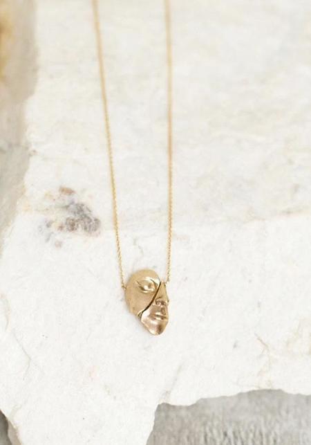Liberta Face Necklace - 14kt Gold