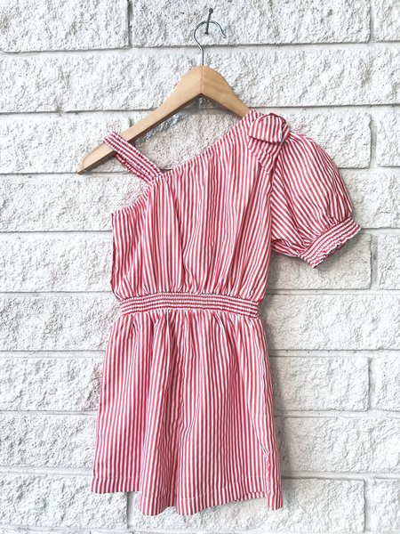Kids Habitual One Shoulder Stripe Romper
