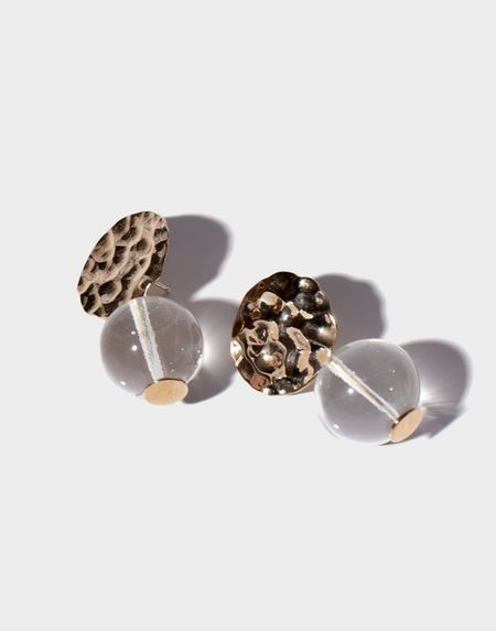 Modern Weaving Petite Textured Globe Earrings - Translucent Glass