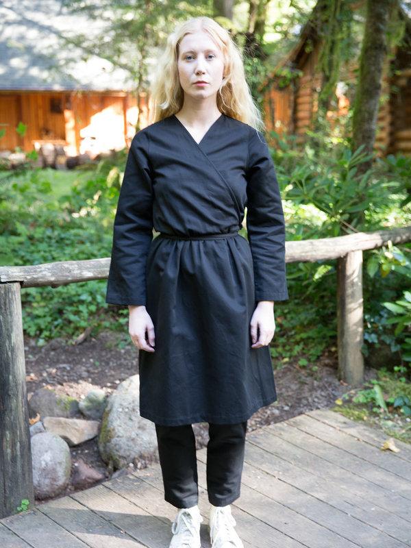 Wrk-Shp Black Wrap Dress