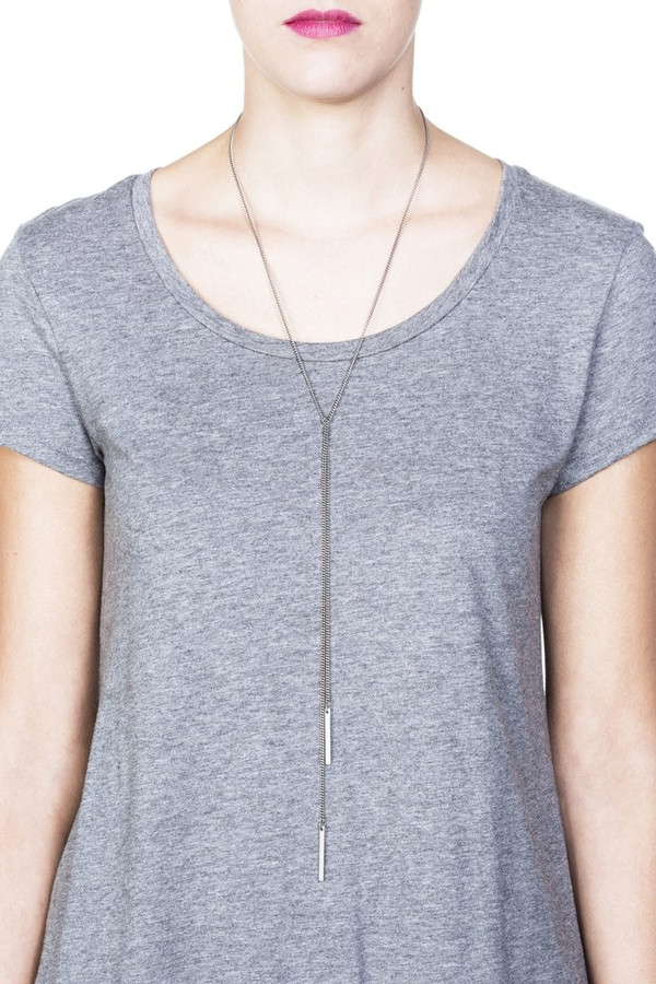 Grayling Lucia Lariat Necklace in Silver