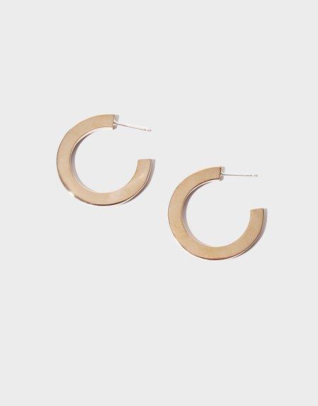 Modern Weaving Square Hoop Earrings - Bronze