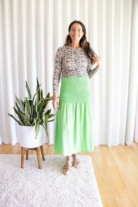 Paloma Wool Montoro Skirt - Green Fluor