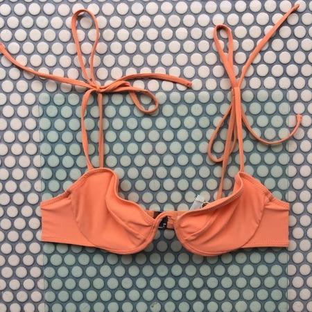 Araks Myriam Tie Strap V Wire Bikini Top - Peche