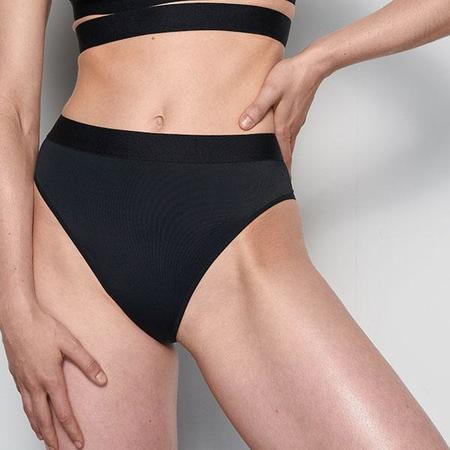 La Fille d'O Adore High-Waisted Bikini Bottom - Black