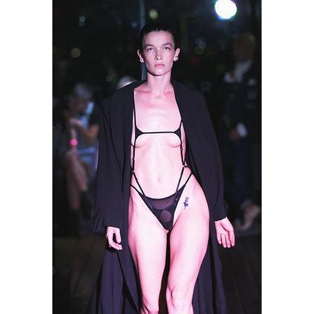 Marika Vera 80's Moore Ouvert Cage Bodysuit - Black