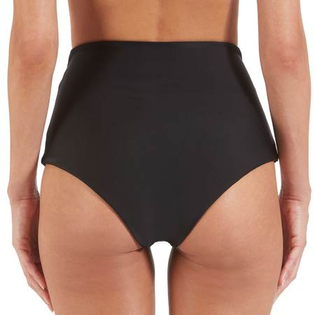 Mikoh Lami High Waisted Bikini Bottom - Black