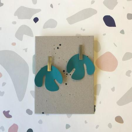 Sibilia Cut Out Earring - Teal