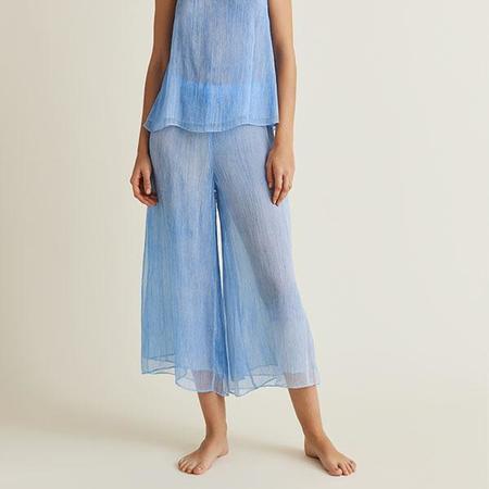 Skin Sapir Silk Chiffon Pants - Marine Blue