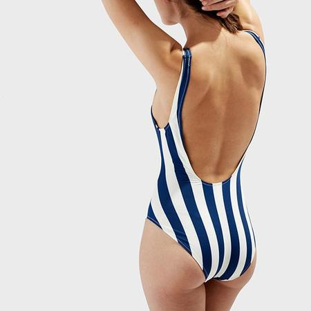 Solid & Striped Anne-Marie 1 Piece - Navy/Cream