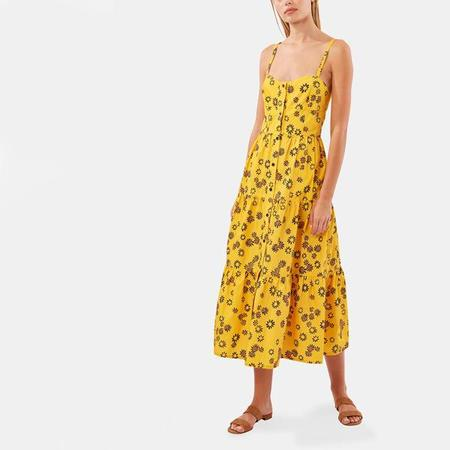 Solid & Striped Button-Up Dress - Yellow Daisy