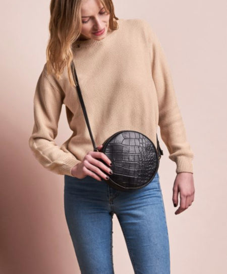 O My Bag LUNA Bag - black croco