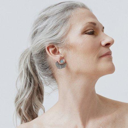 Isabelle Kapsaskis Leaf Ear Jacket Earrings - Silver