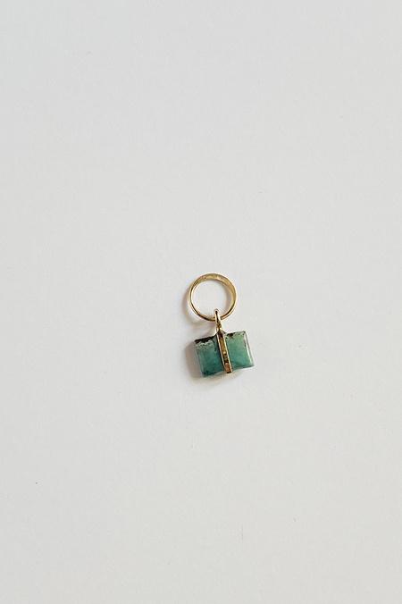 Melissa Joy Manning Turquoise Charm - 14K Gold