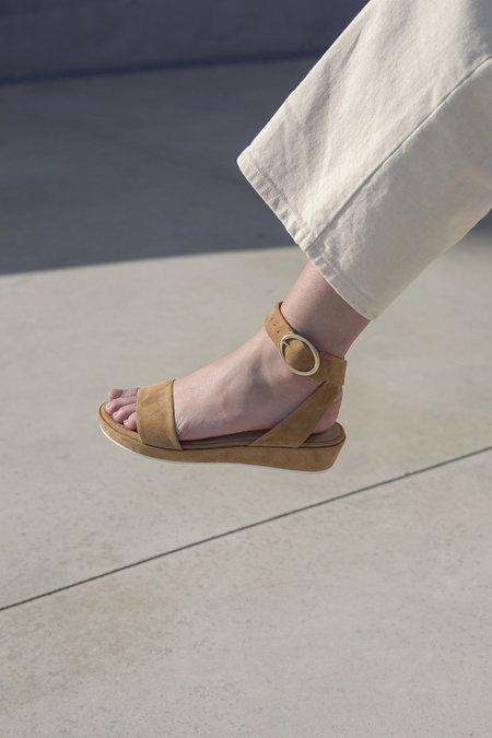 Anne Thomas Romane Velours Pony sandals - brown