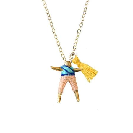 Hechizo Worry Doll Necklace - Peach