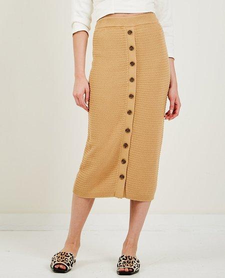 TRIAA Pique Knit Long Skirt - Tan
