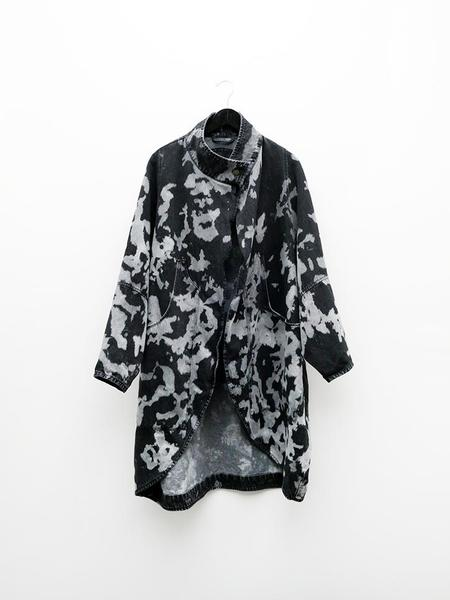 69 Cocoon Coat - Denim Cow Black