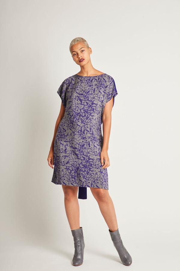 H. Fredriksson Flip Dress in Purpur Pollock Silk