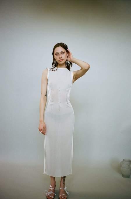 Kepler Stitch Dress - Cream