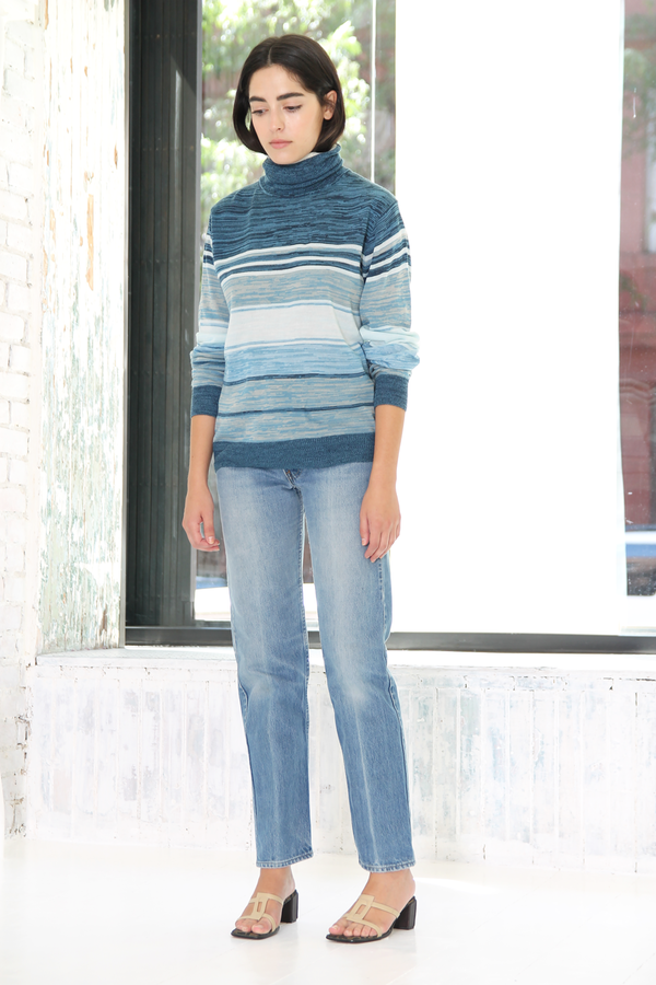 DUO NYC Vintage Stripe Turtleneck