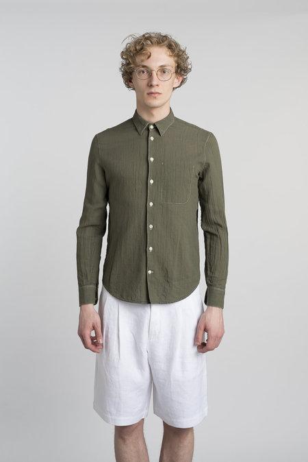 Delikatessen Feel Good Italian Cotton Cotton Shirt - Green