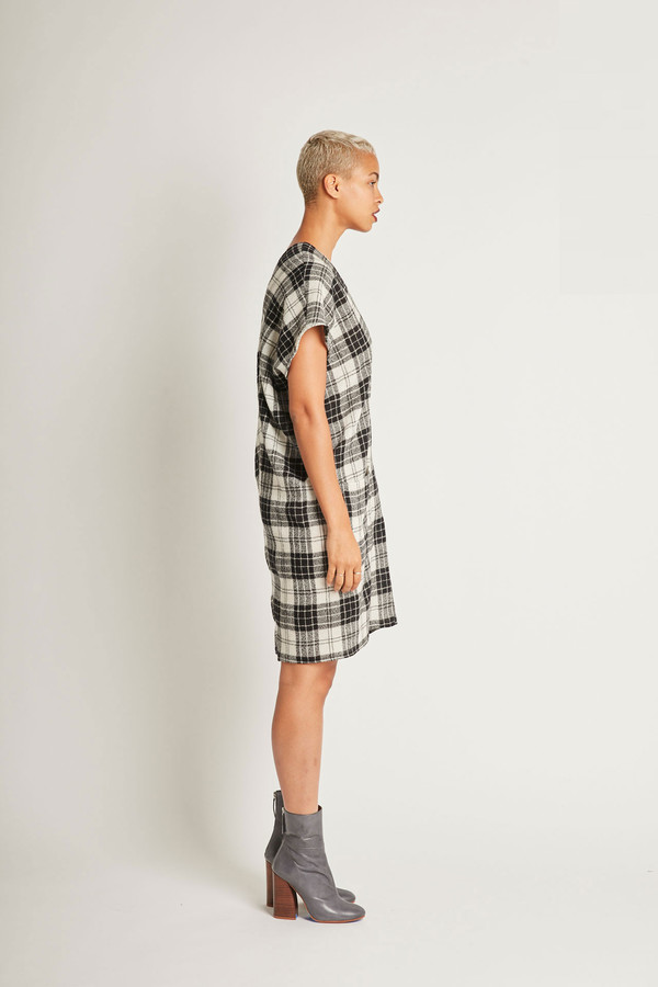 H. Fredriksson Juno Dress in Plaid Wool