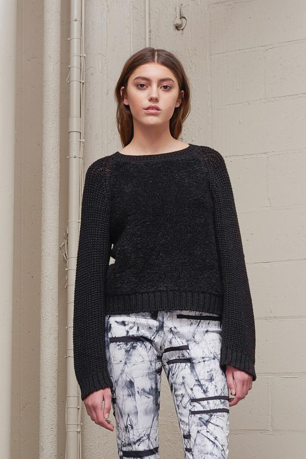 Osei-Duro Boucle Pullover Sweater in Black