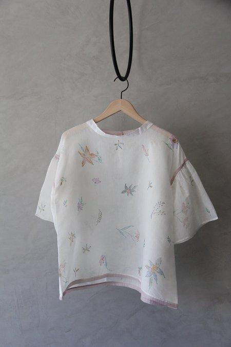 EKA Silk Clary Shirt - White/Flowers