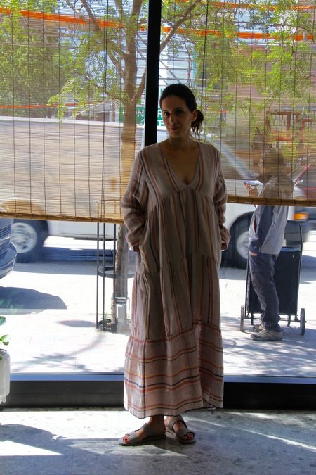 ALOJA EKA Linen Erica Lilac Dress - Lilac