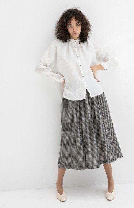 Ichi Antiquites Linen Rayon Shirt - White