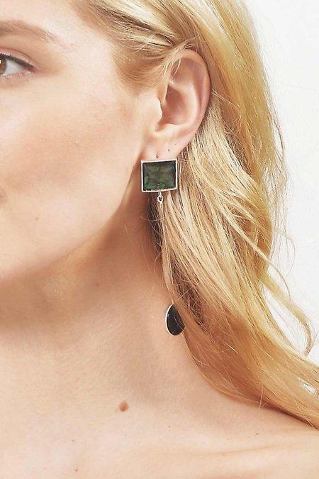Tarin Thomas Eden Earrings - Silver/Onyx