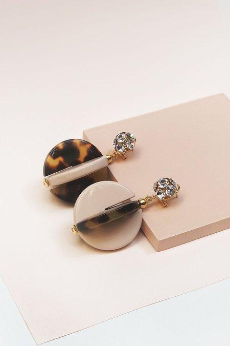 Rachel Comey Holt Earrings - Tortoise/Blush