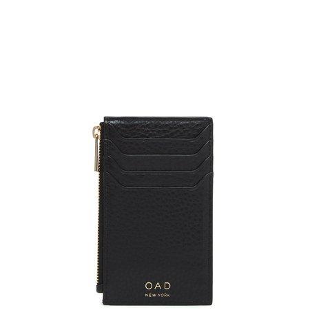 OAD Billy Zip Card Case - True Black