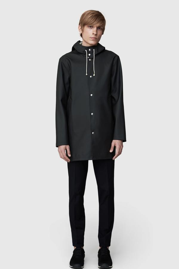 STUTTERHEIM Stockholm Rain Jacket- Black