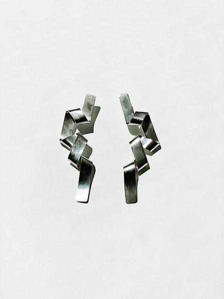 CATH•S Long Ribbon Earrings - Silver