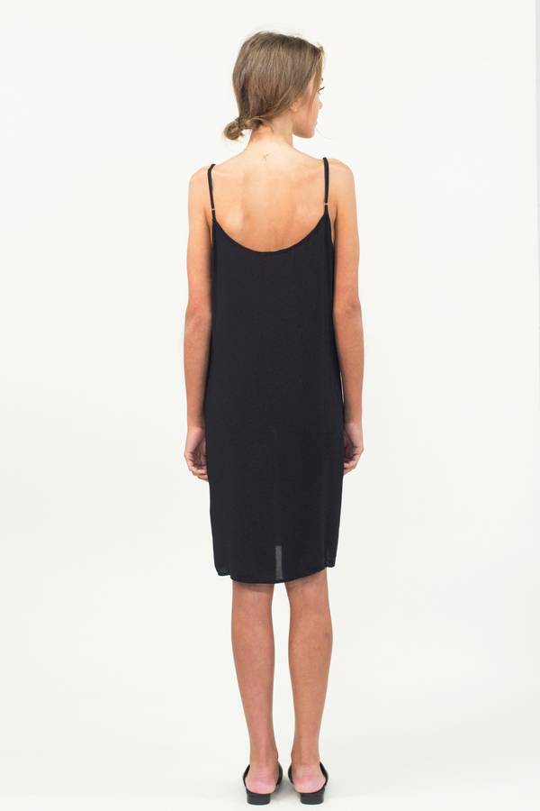 LACAUSA Easy Slip Dress- Black
