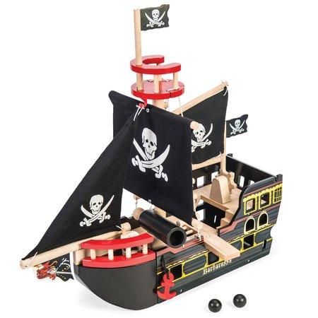 Kids le toy van barbarossa wooden pirate ship