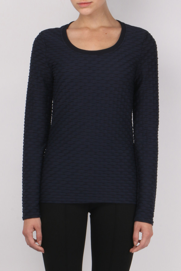 Carven Jacquard Long Sleeve Tee