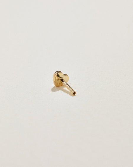 Pamela Love Extra Units Piercing Threaded Backs  earrings - 14k yellow gold