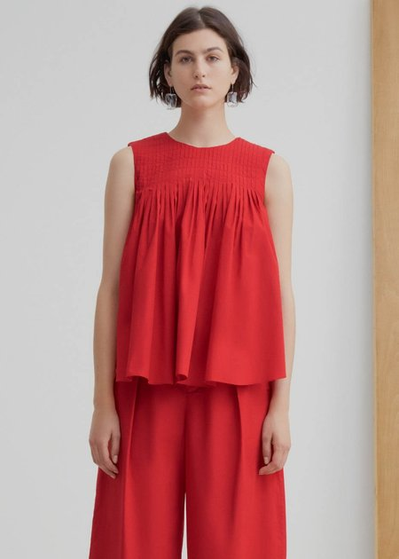 Kowtow Repetition Top - Scarlet