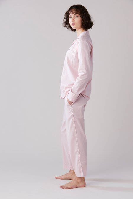 Laing Home Frank Cotton Pyjama Set - Blush Pink