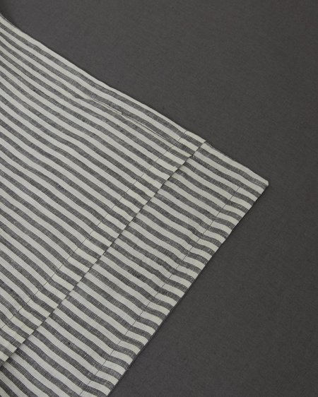 Sunday Morning Marcel Linen Collection Set - Storm/Storm Stripe